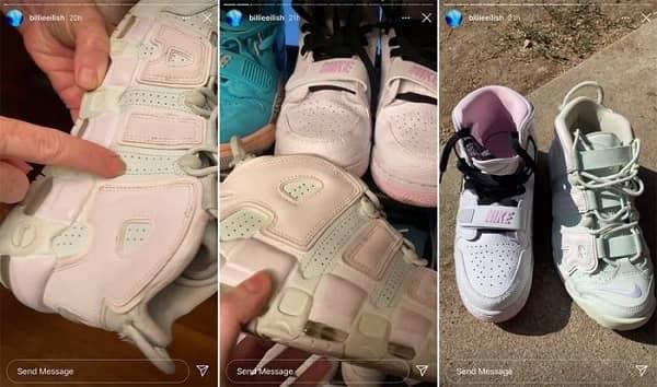 کفش های بیلی آیلیش را چه رنگی می بینید ؟!