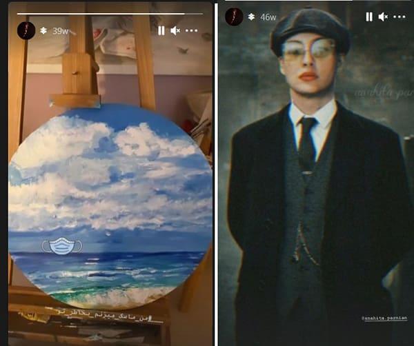 تابلوهای نقاشی آناهیتا درگاهی در سال 99