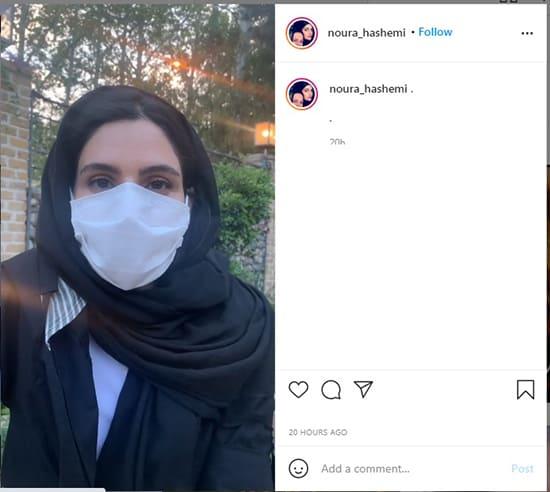 ویدیوی 90 ثانیه ای نورا هاشمی در واکنش خبر ادعای تجاوز جنسی سیاوش اسعدی به ریحانه پارسا